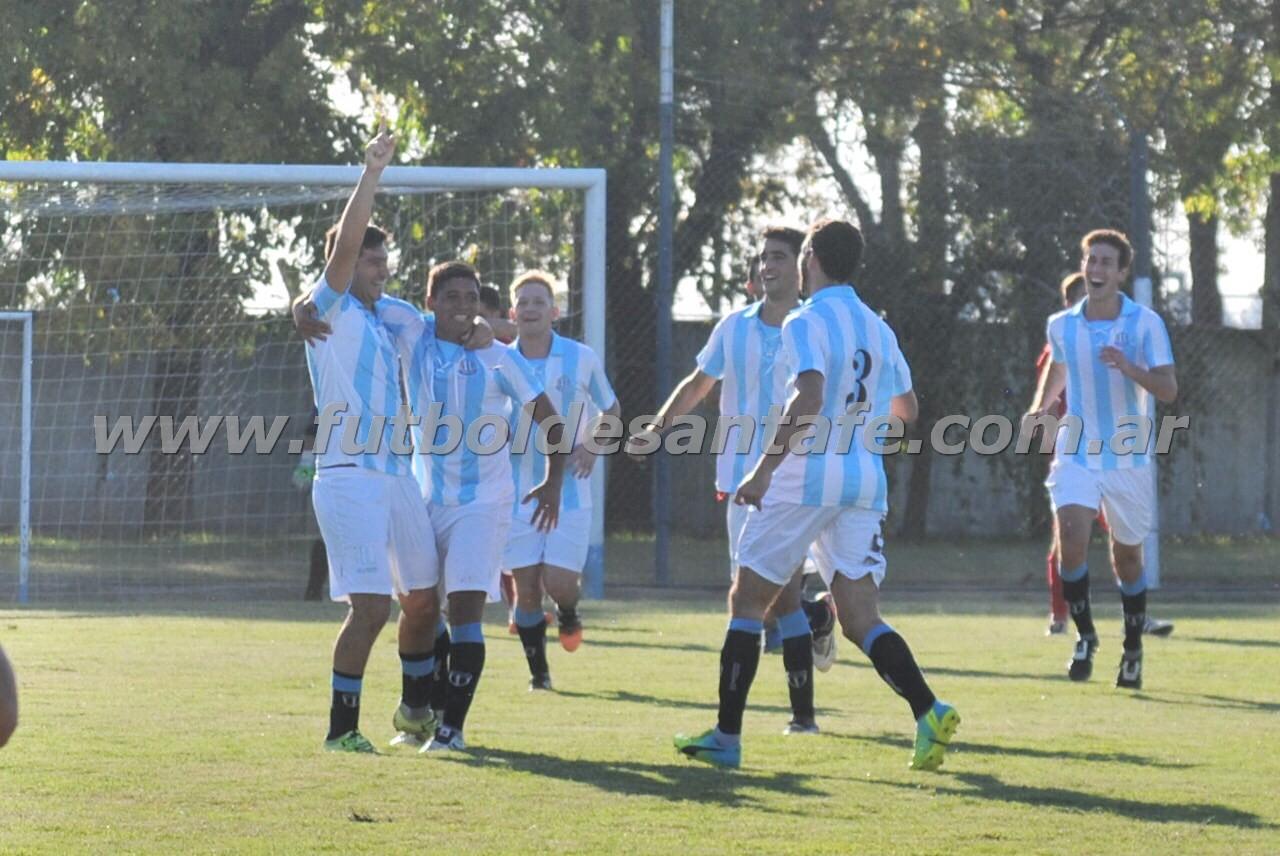 Marini, debutó en Argentino y anotó el segundo gol. Foto: Julián Andrés Monzón
