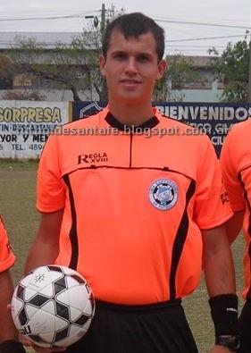 Enzo Silvestre, arbitrará el duelo A.D.E.O - Americano Foto: archivo Fútbol De Santa Fe