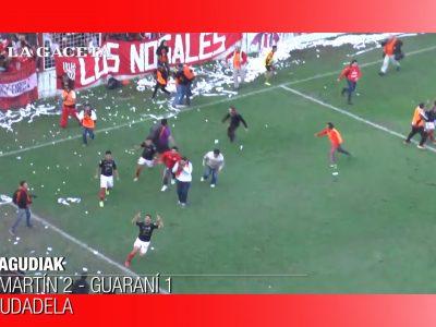 Algunos de los goles de San Martín (Tucumán), en la campaña del ascenso