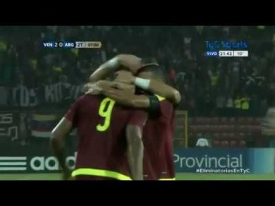 Venezuela 2 – Argentina 2 (eliminatorias Rusia 2018)
