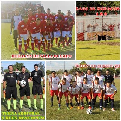 Huracán de Ocampo, elimino a Unión de Crespo (Copa Federación)