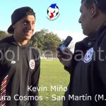 Kevin Miño, figura de Cosmos - San Martín