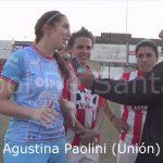Érica González, Mailén Herman y Agustina Paolini (analizaron la victoria en el clásico)