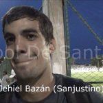 Jehiel Bazán, habló luego del triunfo de Sanjustino ante El Quillá