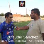 Claudio Sánchez (la figura de Deportivo Nobleza - Atlético Floresta