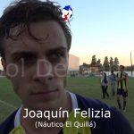 Joaquín Felizia, analizó el empate de El Quillá ante Urquiza