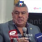 Conferencia de prensa Presidente AFA, Claudio Tapia
