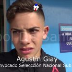 Agustín Giay, convocado a la selección nacional sub 15