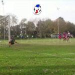 Los goles de Toniollo y Kahial (Ateneo - La Perla)