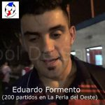 Eduardo Formento, cumplió 200 partidos en la primera de La Perla