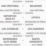 Designaciones arbitrales, fecha 6, Apertura 70 Aniversario Belgrano de Coronda