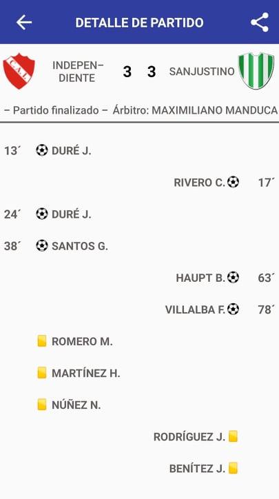 Independiente 3 - Sanjustino 3 (La síntesis)