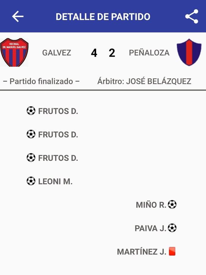 Vecinal Manuel Gálvez 4 - Def. de Peñaloza 2