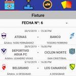 """Designaciones arbitrales; fecha 6 Zona Campeonato B; Clausura Pascual """"El abuelo """" Mendoza"""