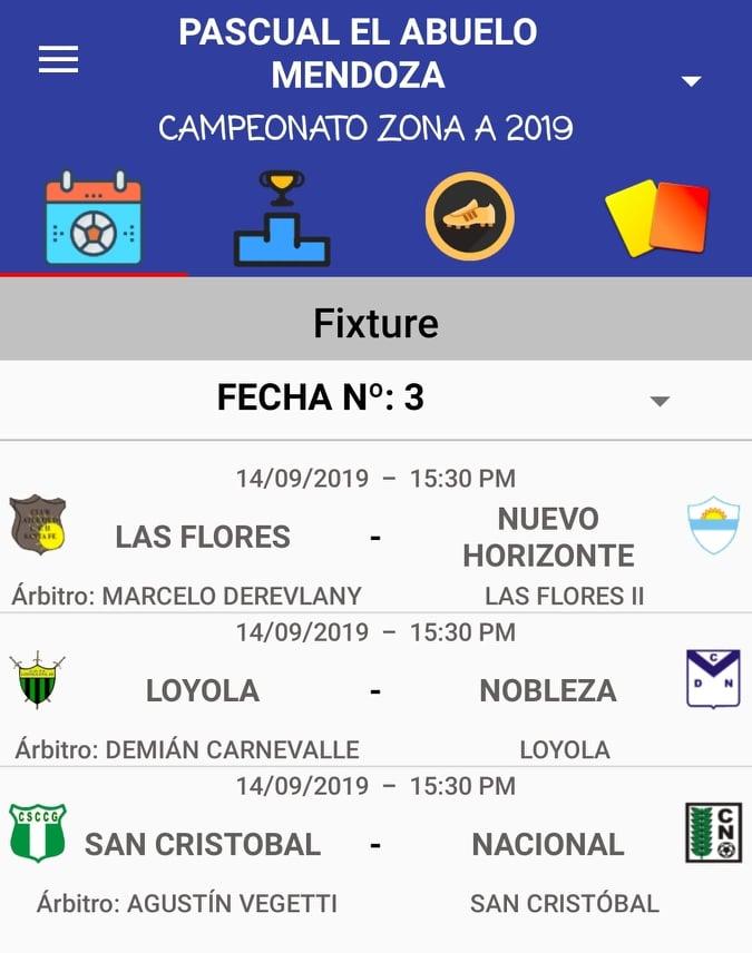 Designaciones arbitrales, fecha 3, Zona Campeonato A, Clausura Pascual