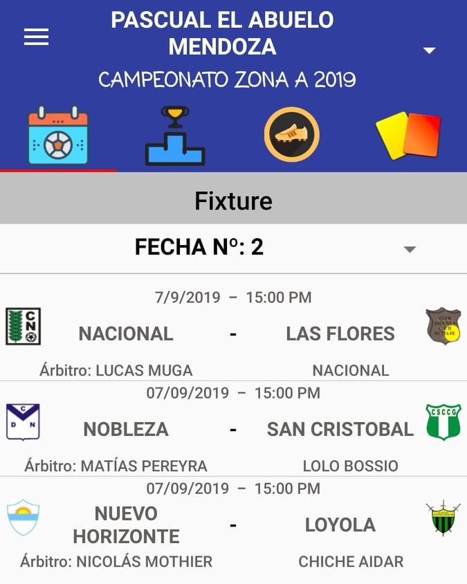 Designaciones arbitrales, fecha 2 Zona Campeonato A, Clausura Pascual
