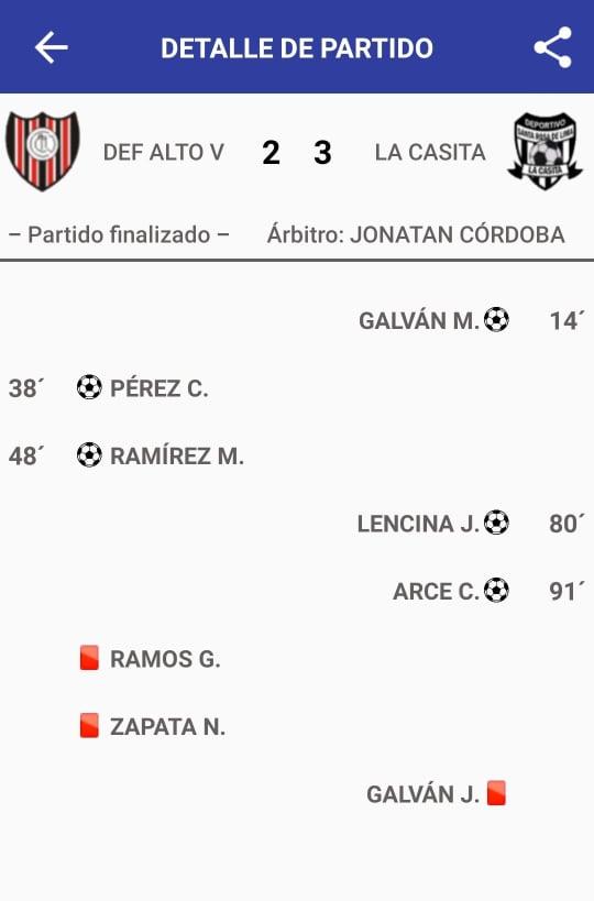 Defensores de Alto Verde 2 - Deportivo Santa Rosa 3 (La síntesis)