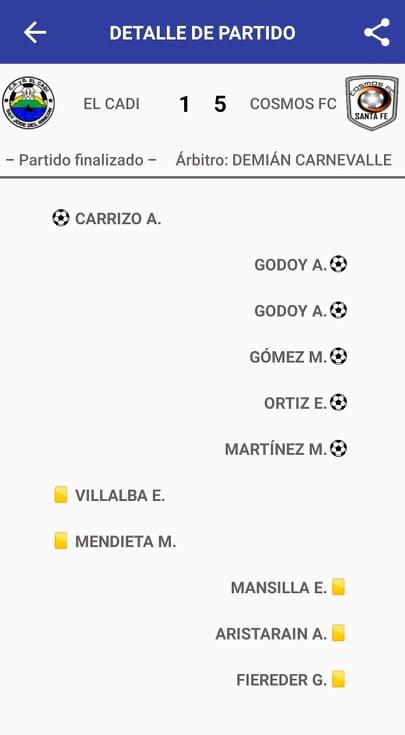 El Cadi 1 - Cosmos FC 5 (La síntesis)