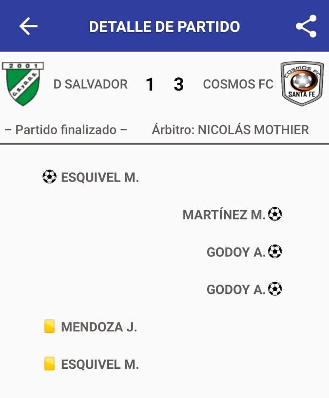 Don Salvador 1 - Cosmos FC 3 (La síntesis)