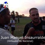 Juan Manuel Insaurralde, demostró su alegría, por el ascenso de Nacional