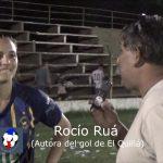 Rocío Ruá, autora del gol de El Quillá campeón del Clausura Martín Denat