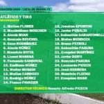 Lista de Buena Fe, Atlético y Tiro. Copa Federación