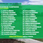 Lista de Buena Fe, Racing El Campesino. Copa Federación