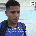 Lucas Quiroz, analizó el triunfo de Ben Hur, sobre Ateneo