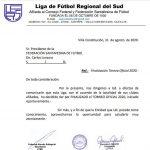 Sin actividad oficial 2020, en Liga Regional del Sud