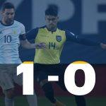 Argentina 1 - Ecuador 0 (Resumen del partido)