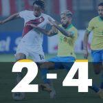 Perú 2 - Brasil 4 (Fecha 2 eliminatorias Qatar 2022