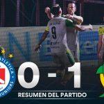 Argentinos Juniors 0 - Aldosivi 1 (Síntesis y el gol)