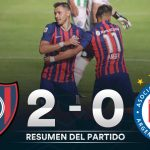 San Lorenzo 2 - Argentinos Juniors 0 (La síntesis y resumen del juego