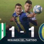 Banfield 1 - Rosario Central 1 (La síntesis y compacto del partido)