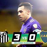 Santos 3 - Boca 0. (Compacto del partido)