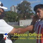 Marcos Ortega, la figura Premios Santa Fe: Unión - Colón, Reserva